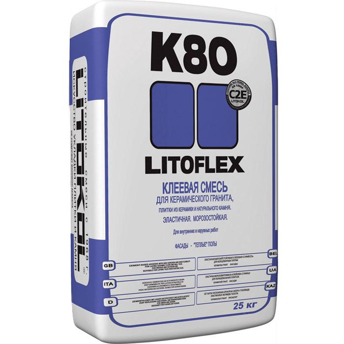 Клей плиточный Литокол K80 25 кг
